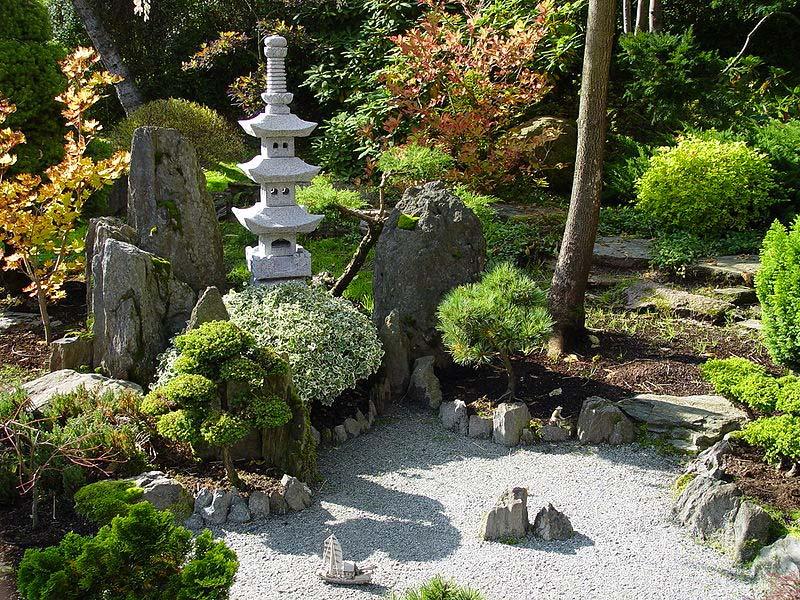 japanse tuin asymmetrie