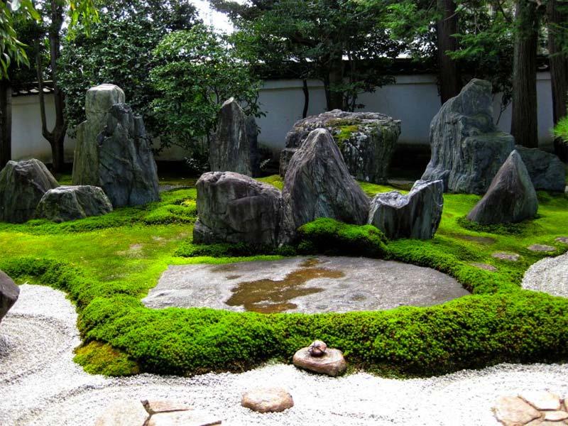 japanse tuin natuurlijke elementen