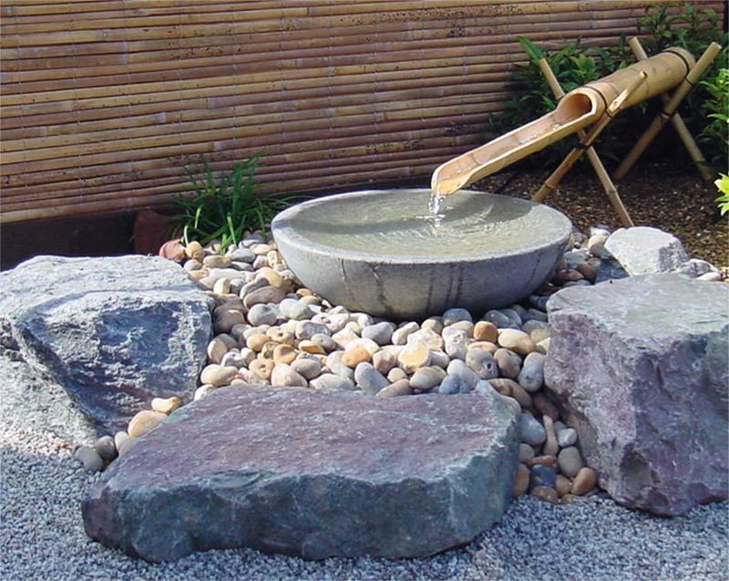 japanse tuin wastafel