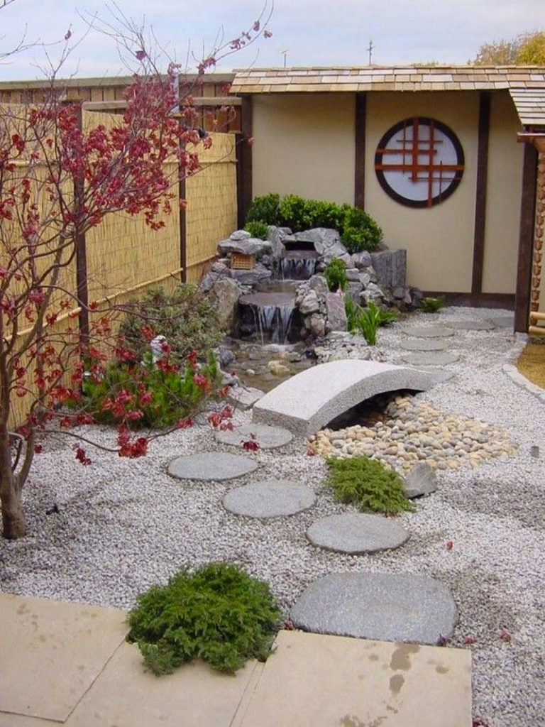 japanse tuin waterval
