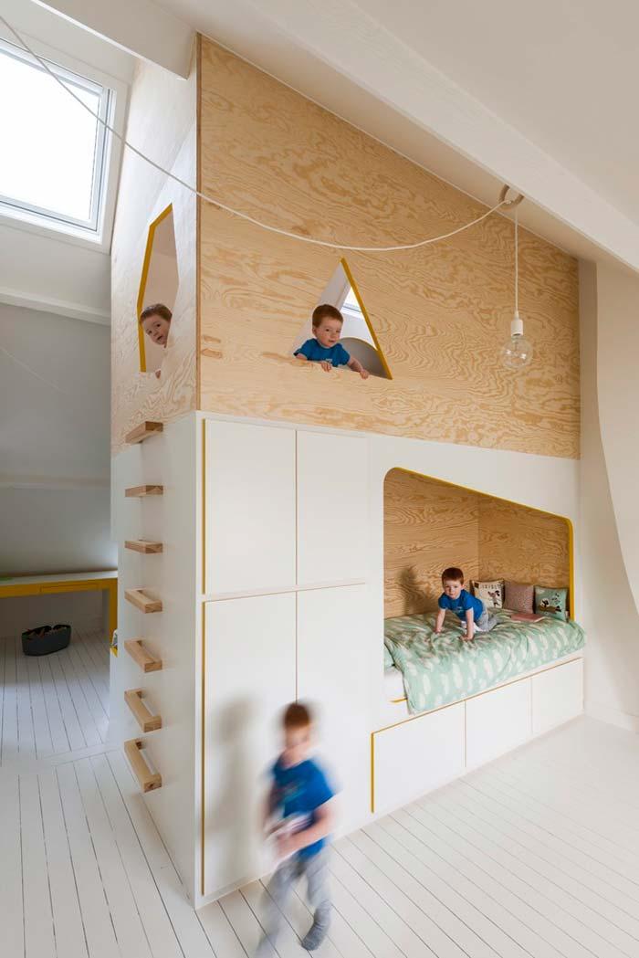 jongenskamer ideeen speelhuisje zolder