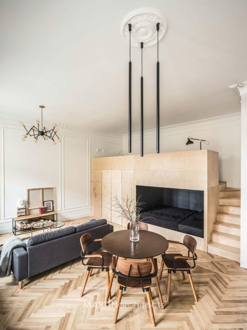 karakteristieke moderne woonkamer