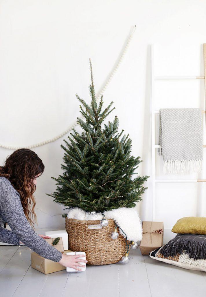 Kerstboom in een klein appartement