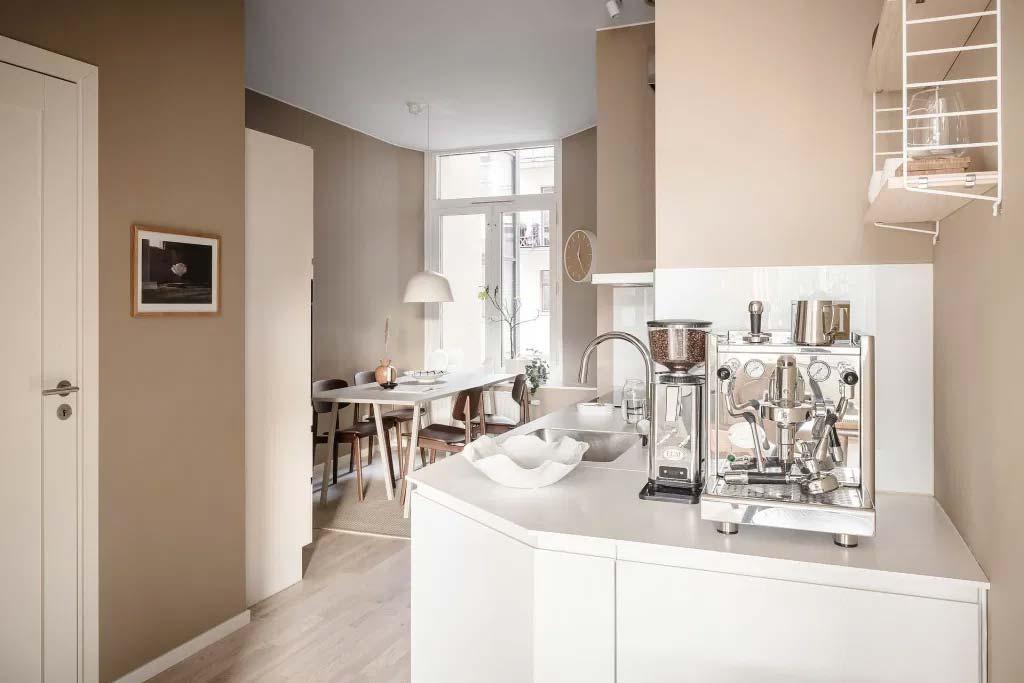 keuken makeover tips mooie koffiemachine