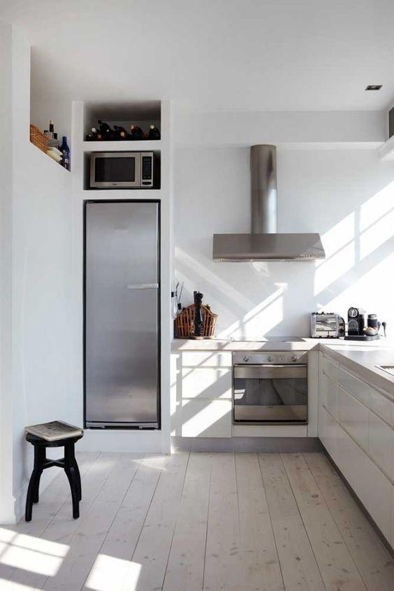 Smalle koelkast ombouw