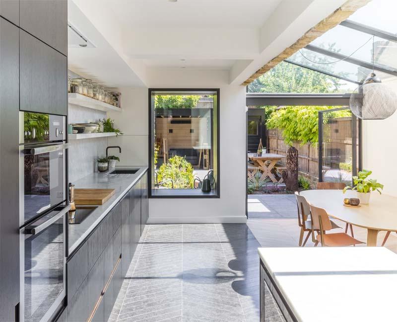 keuken uitbouw glazen dak