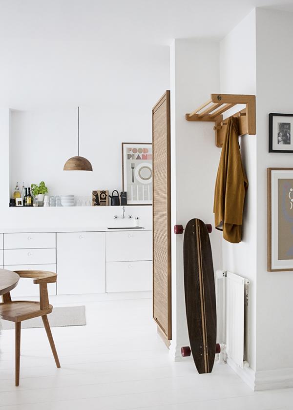 Keuken met wit en hout homease - Hout en witte keuken ...