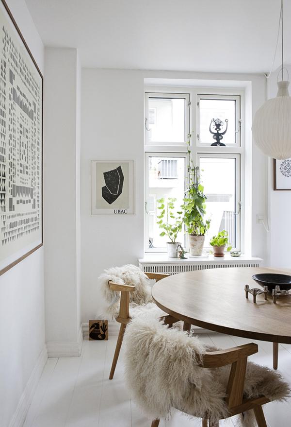 Keuken met wit en hout