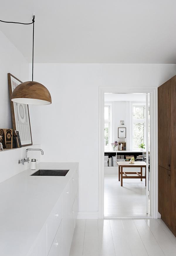 Keuken modern wit hout - Hout en witte keuken ...