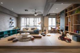 kinderhoek inrichten in woonkamer