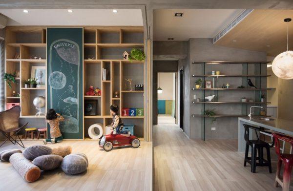 Kinderhoek in woonkamer