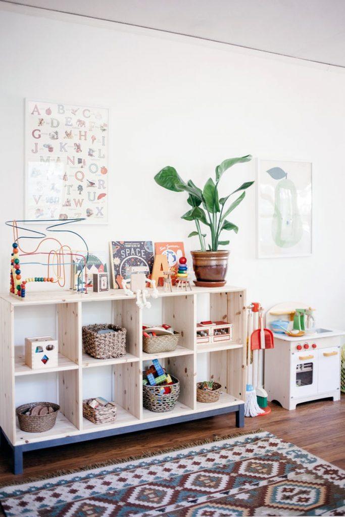 De kinderkamer van Adam en Edie is geïnspireerd door de Montessori methode