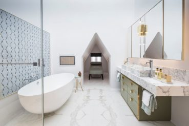 Klassieke badkamer met een modern tintje