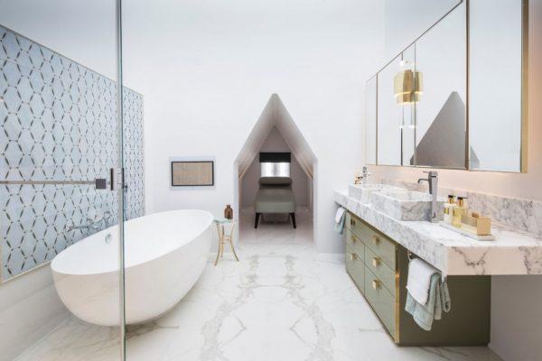 Klassieke badkamer met een modern tintje homease - Winkelruimte met een badkamer ...