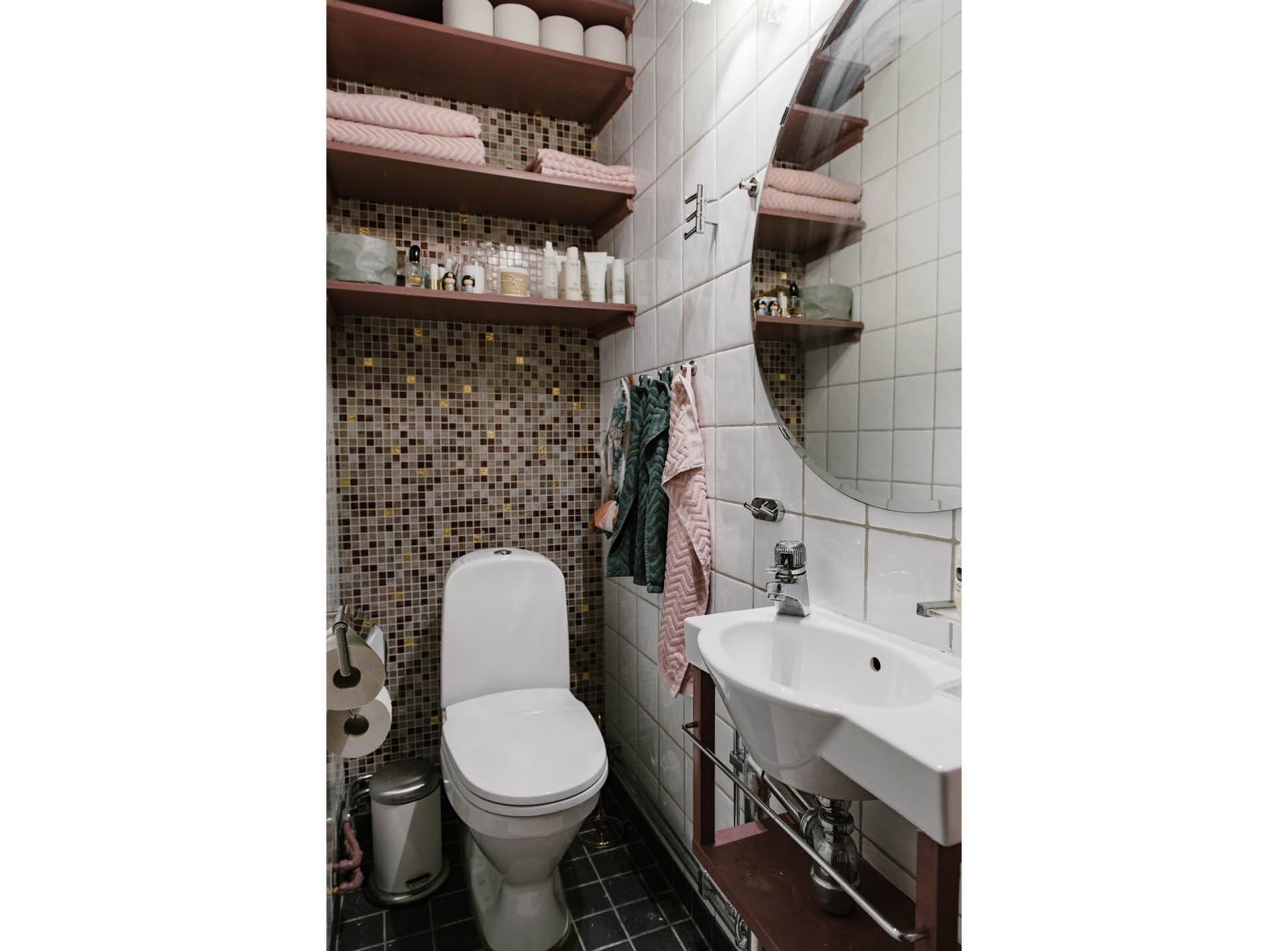 Klein appartement van 29m2 met een roze interieur!