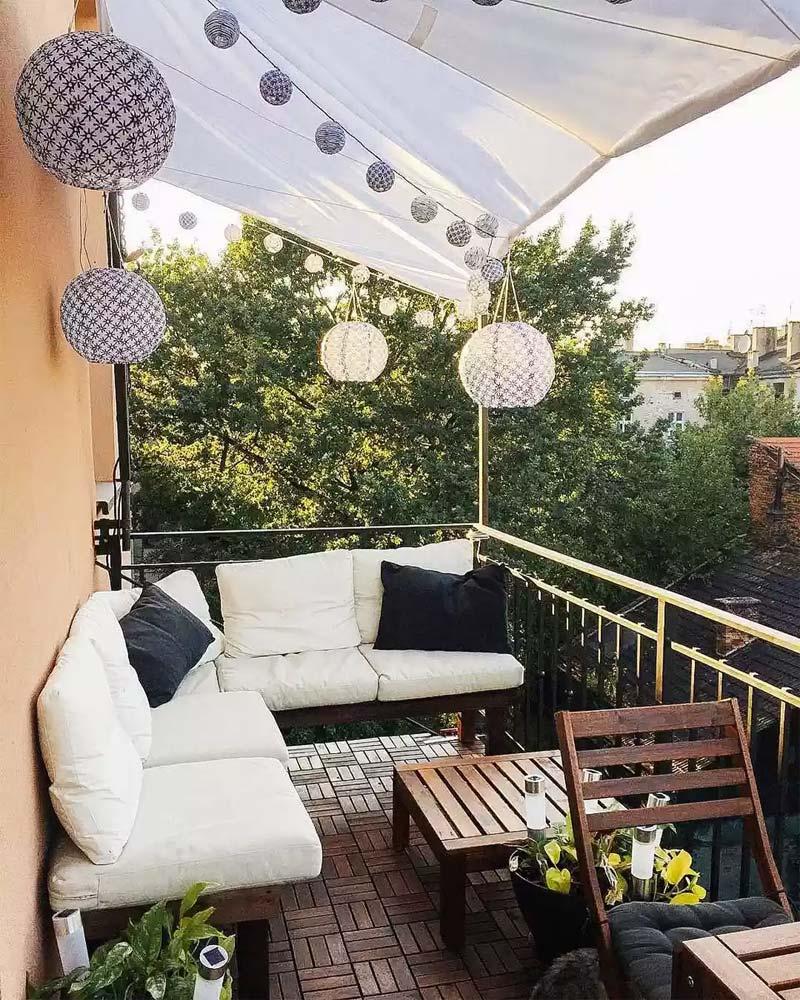 klein balkon ikea meubels