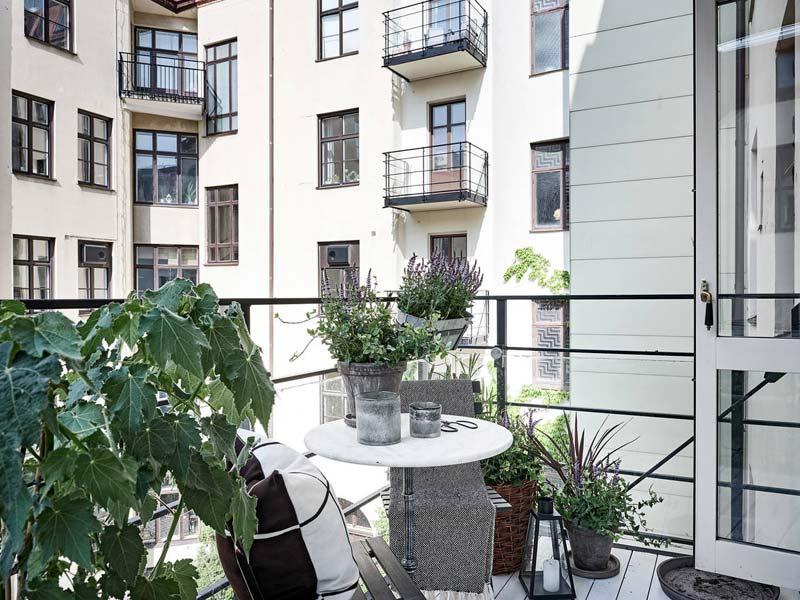 klein balkon inrichting