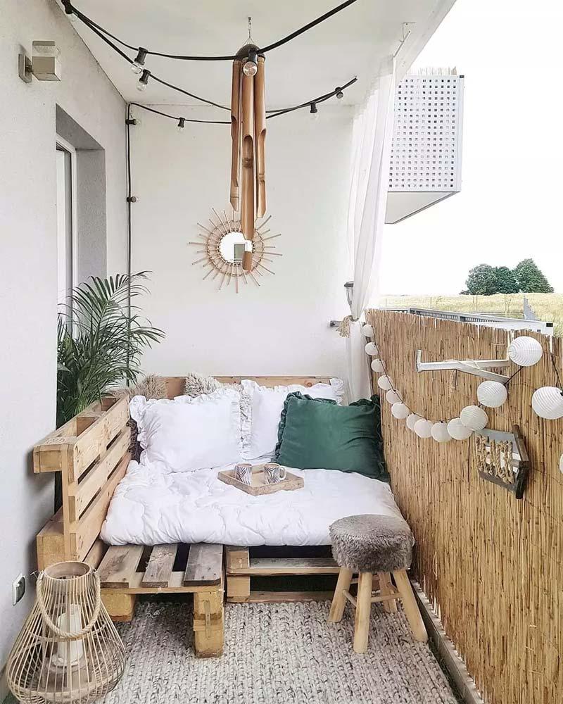 Klein bohemian balkon