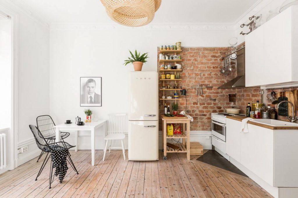 Klein eenkamerappartement uit stockholm homease - Keuken kleine ruimte ...