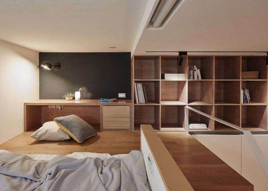 In dit kleine appartement van 22m2 hebben ze de slaapkamer p de badkamer ingericht homease - Layout klein appartement ...