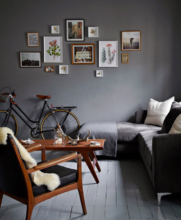 Kleine grijze woonkamer | HOMEASE