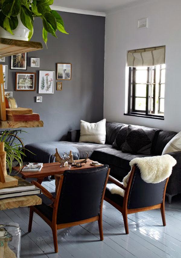 Kleine grijze woonkamer homease - Kleine woonkamer decoratie ...
