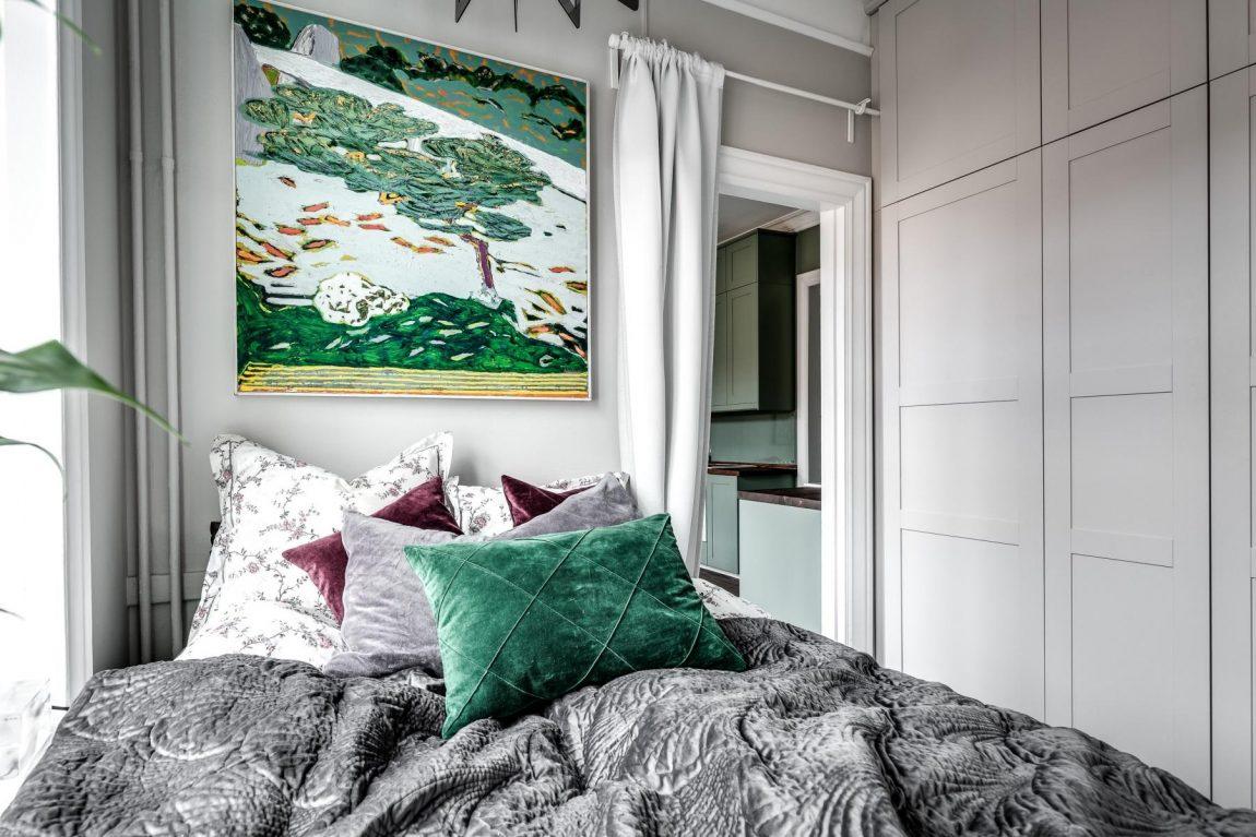 kleine slaapkamer- inbouwkast