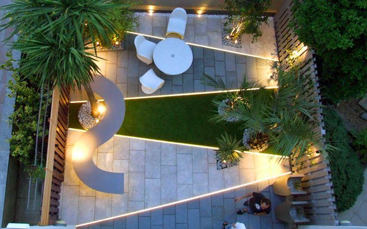 kleine tuin ontwerpen chique cosmopolitan tuin