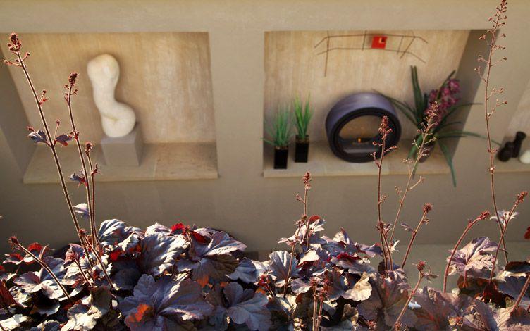 kleine tuin ontwerpen integratie binnen en buiten kunst