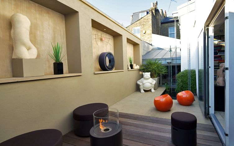 kleine tuin ontwerpen integratie binnen en buiten