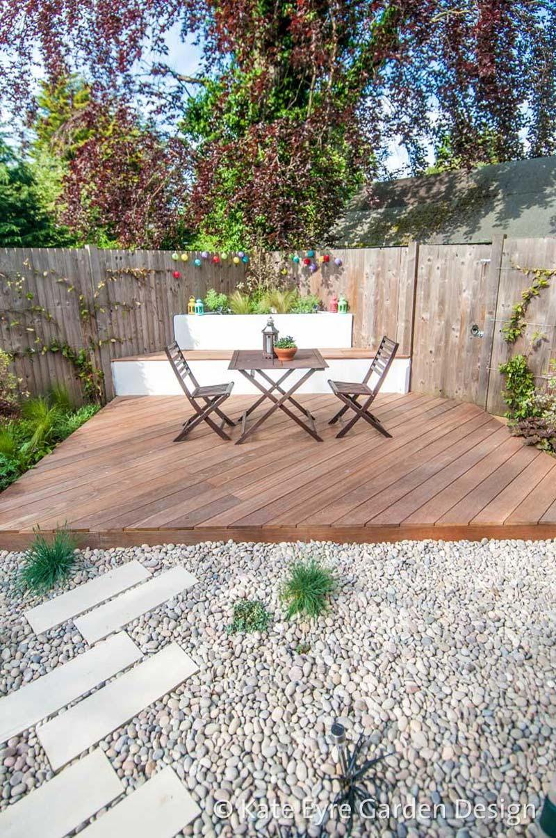 kleine tuin ontwerpen modern geometrisch ontwerp zithoekje