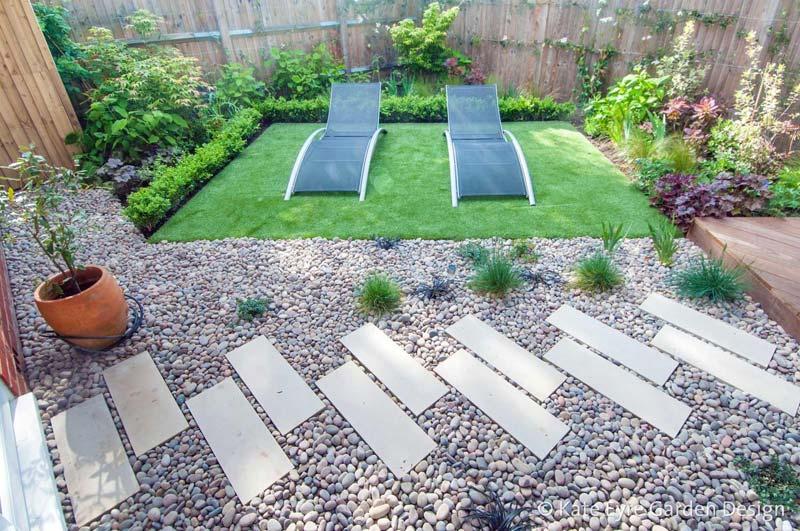 kleine tuin ontwerpen modern geometrisch ontwerp