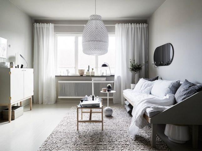 Kleine woonkamer groot vloerkleed