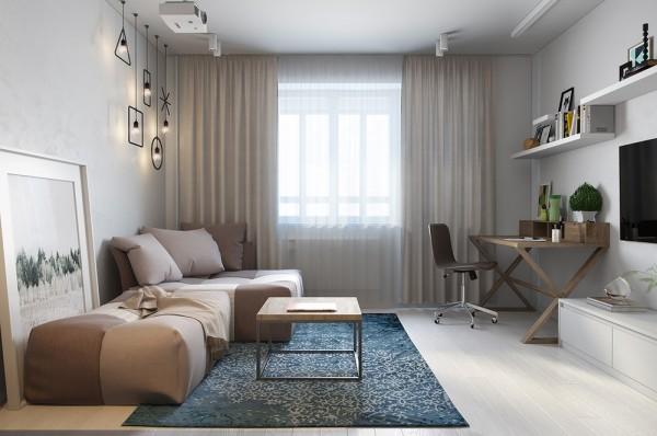 Kleine woonkamer hoekbank