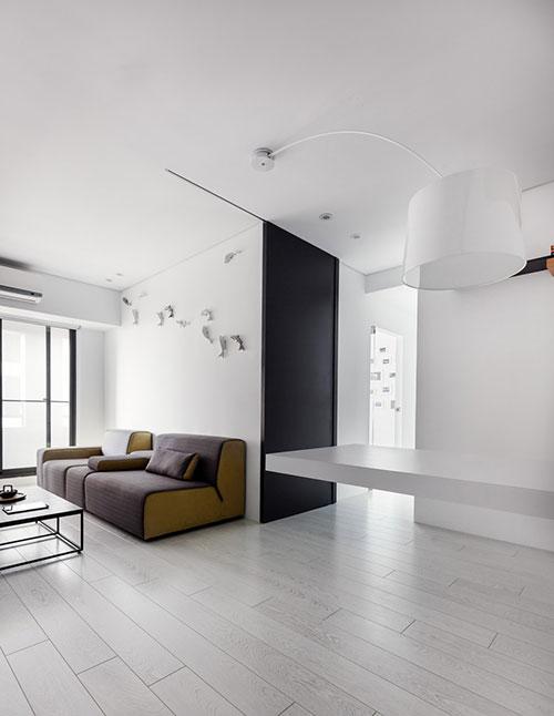 Kleine woonkamer muurdecoratie