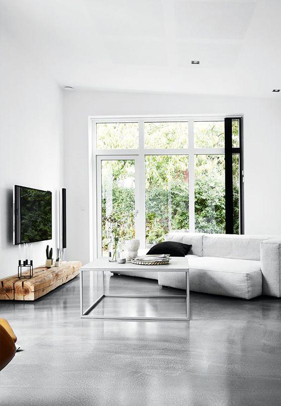 Kleine woonkamer naadloze vloer