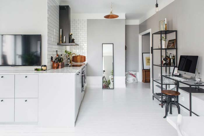 Kleine woonkamer open keuken