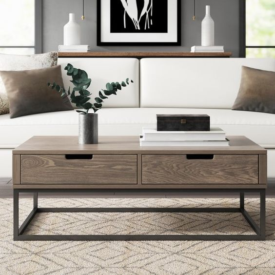 Kleine woonkamer salontafel met opbergruimte