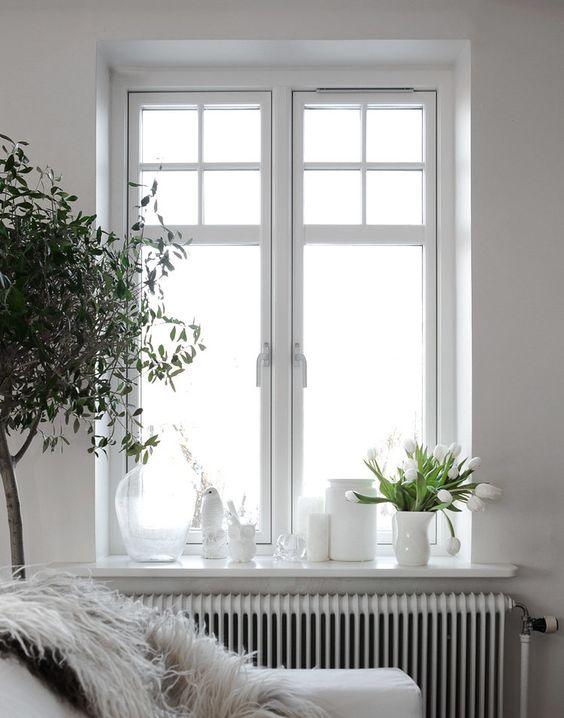 Kleine woonkamer vensterbank