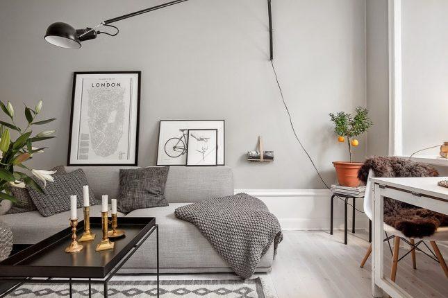 Kleine woonkamer wandlamp
