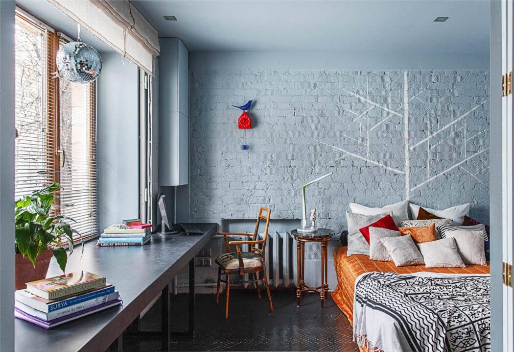 kleurenspel in een leuke slaapkamer homease