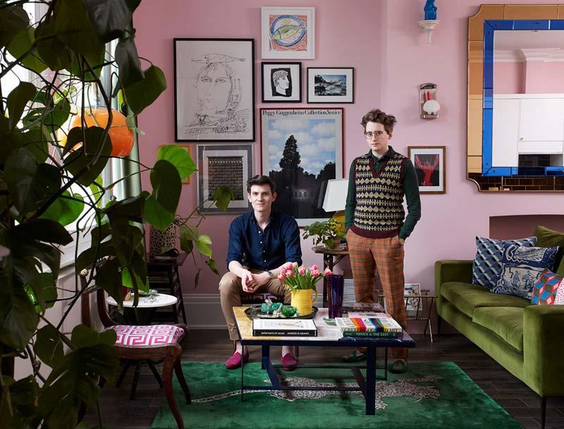 Kleurrijke eclectische huis luke & duncan