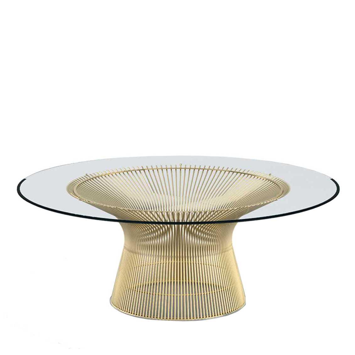 Knoll Platner glazen salontafel