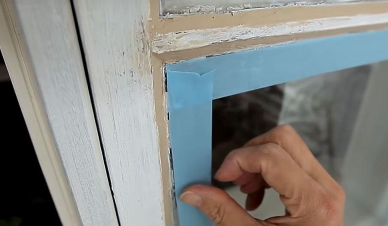 Kozijnen verven handleiding ramen afplakken