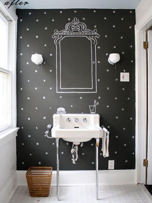 krijtbord badkamer