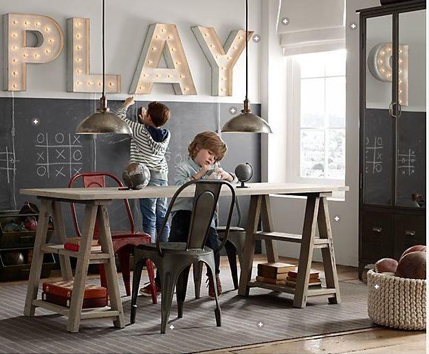 Krijtbord in kinderkamer