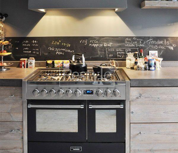 Krijtbord keukenwand