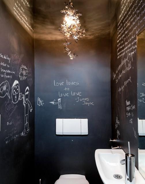 Krijtbord toilet