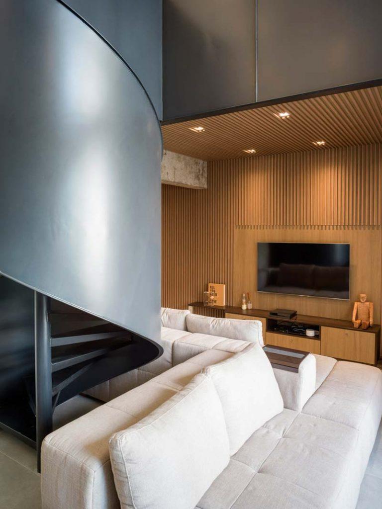l-vormige loungebank beige