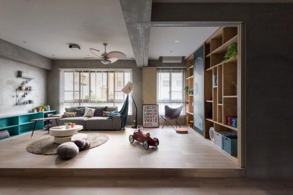 Leuk idee speelhoek woonkamer